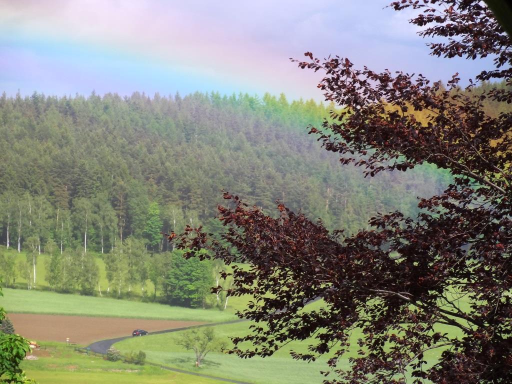 Regenbogen über Unternberg